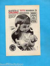 TOP970-PUBBLICITA'/ADVERTISING-1970- SEBINO -TITTI  MAMMA DI CIALDINO (B/W-B)