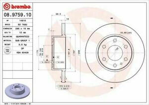 Pair Brake Discs Brembo Rear For Fiat Iveco Daily IV / all Types From 2006->