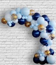 Ballon DIY Girlanden Set Macaron Blau/Konfetti/Blau