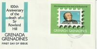GRENADA GRENADINES 1979 ROWLAND HILL CENTENARY MINIATURE SHEET FIRST DAY COVER a