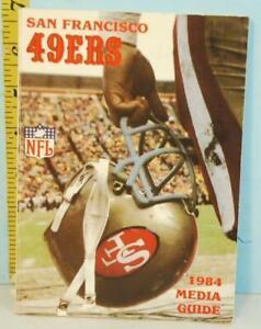 1984 San Francisco 49ers NFL Football Media Guide