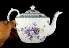 Beautiful Aynsley Wild Violets Large Teapot