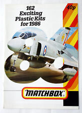 VERY RARE VINTAGE 1986 MATCHBOX PLASTIC KITS 28 PAGE CATALOG NEW NOS !