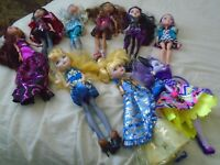 Ever After High Dolls Lot of 9 Dolls