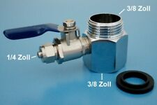 """Wasser Anschluss Adapter 3/8""""  Absperrhahn Osmoseanlage Wasserfilter KugelVentil"""