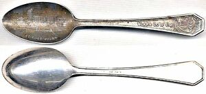 Silverplated Souvenir Spoon: 1933 Chicago Century Of Progress: Science Court