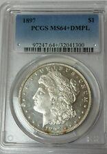 1897 P Liberty Morgan Dollar PCGS MS 64+ DMPL Deep Proof Silver Dollar Coin