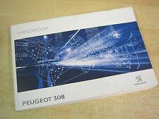 PEUGEOT 308 OWNERS MANUAL HANDBOOK 2014-2017  INCLUDES AUDIOI NAV, OS29