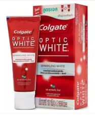 Pack of 2 X 100g Colgate toothpaste optic white sparkling halitosis oral breath