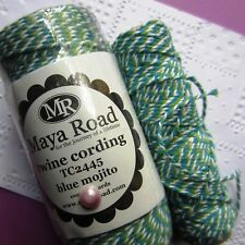 MAYA ROAD ∽ BAKERS TWiNE ∽ 5 (FiVE) METRES ∽ BLUE / GREEN / WHiTE ∽ BLUE MOJiTO