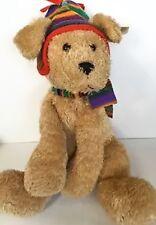 Gund Ben Shaggy Dog Beige Stuffed Animal Plush Toy Hat Scarf 44478 Hang Tag