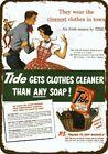 1951 TIDE LAUNDRY SOAP DETERGENT Vintage Look DECORATIVE REPLICA METAL SIGN