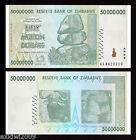 Zimbabwe 2008 50 Million Dollars P-79 AA Prefix Mint UNC Uncirculated Banknotes