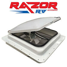 "Caravan Roof Hatch - 12V Exhaust fan with switch, 355 *355mm (14"" Cut Out)"