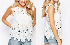 Camisas y tops de mujer blusa encaje color principal blanco
