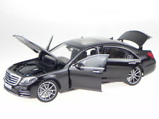 Mercedes V222 S-Class AMG-Line 18 ruby black diecast model car 183483 Norev 1:18