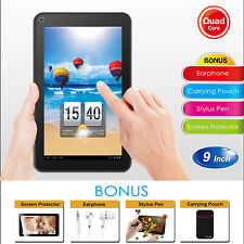 KOCASO 9 INCH Android 5.1 Tablet PC HD 1GB+8GB Quad Core Webcame Wireless Black