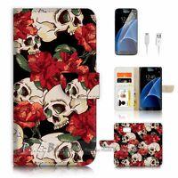 ( For Samsung Galaxy S7 ) Case Cover P2547 Sugar Skull