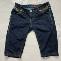 Coogi Women's 7/8 Rainbow Carpi Dark Wash Jeans 26x13.5