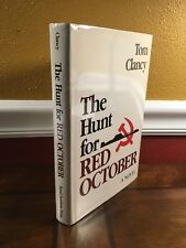 """1984 """"THE HUNT FOR RED OCTOBER"""" by Tom Clancy *SIGNED & INSCRIBED*"""