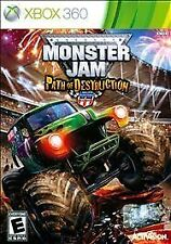 Monster Jam: Path of Destruction (Microsoft Xbox 360, 2010) Game And Case