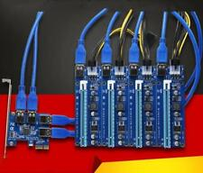 PCI-E 1X to 16X Mining Machine Enhanced Extender Riser Adapter w/ 6P Power Cable