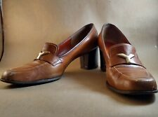 Chaussures Yves Saint Laurent Paris Ysl Y Buckle Stack Heels 9 1/2 Aaa with Box!