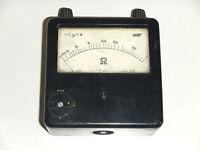 M RFT Bakelit Messgerät DDR Ohmmeter Widerstand Widerstandsmesser Impedanz