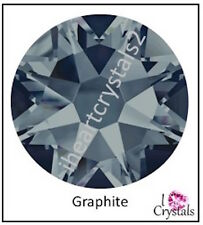 GRAPHITE Dark Gray 144 pcs 12ss 3mm Swarovski Crystal Flatback Rhinestones 2088