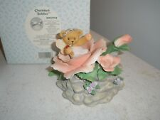 "Cherished Teddies Bear in Rose ""You Are the..."" Figurine #4002792 2007 By Enesco"