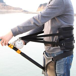 Fishing Fighting Big Game Stand Up Back Harness Belt Waist Gimbal Pad Rod Holder