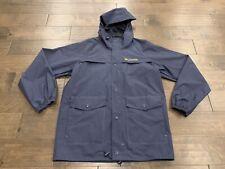 Columbia Sportswear Mens Navy Ibex Rainsuit Full Zip Hooded Jacket Size S Rm3120