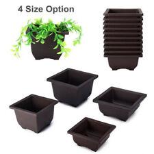 New Plastic Flower Pot Balcony Square Basin Home Bonsai Plant Bowl Planter Home~