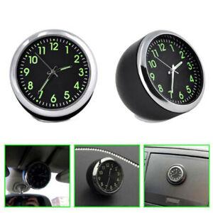Pocket Mini Small Car Time Display Luminous Clock Interior Quartz Analog Watch
