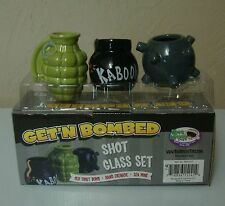 Getting Get'N Get Bombed 3-Pack Bomb Shot Glasses Assorted Set FREE SHIPPING