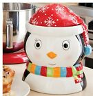 Penguin Cookie Jar 9.5' tall In Winter Stocking Hat Adorable