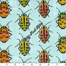 """Michael Miller """"Flutter Bugs"""" Cj445-Skyxd Insect Beetle Fabric Priced Per 1/2 Yd"""