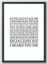 Don't Look Back in Anger - Oasis Song Lyrics Typography Print Poster Artwork