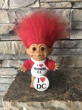 Russ Troll Doll! 4 1/2� Red Hair Brown Eyes! I Love Washingtin D.C.!