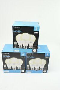 3 Pack 9 Bulbs Merkury Innovations Smart Wifi App Controlled Led Light Bulbs