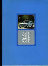 (113B) CATALOGUE MERCEDES BENZ 200D 220D 240D 300D