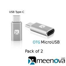 USB Type-C to MicroUSB Female OTG Adapter for Google Pixel, S9 Plus, Xiaomi Seek