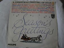 SEASON'S GREETINGS A CHRISTMAS FESTIVAL OF STARS VINYL LP 1959 PHILIPS RECORDS