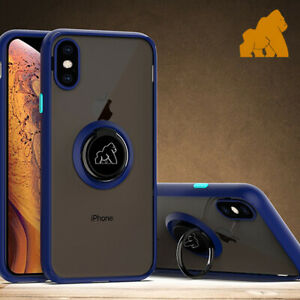 iPhone X Gorilla Case iPhone 11 Pro/X/XS with Finger Ring Stand Slim Shockproof
