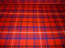 Rosa Rojo Tela De Tartán 100% Lana Pura Virgen Hecho En Escocia De Cuadros