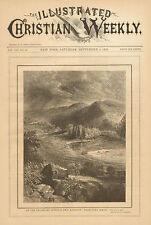 Port Jervis, New York, Orange CO. Erie Railway, Vintage, 1878 Antique Art Print.