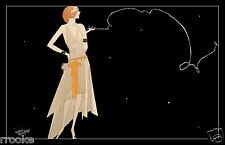 1920's Flapper Smoking Cigarette Fine Art Print / Poster Twenties Era Speak Easy
