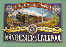 ROBERT  OPIE  ADVERTISING  POSTCARD -  CHESHIRE  LINES  MANCHESTER  &  LIVERPOOL