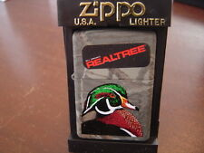 REALTREE HARDWOODS WOOD DUCK ZIPPO LIGHTER MINT IN BOX 2002