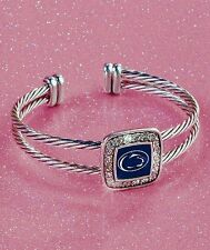 PENN STATE NITTANY LIONS Cuff Bracelet w/ Crystals College Football Pennsylvania